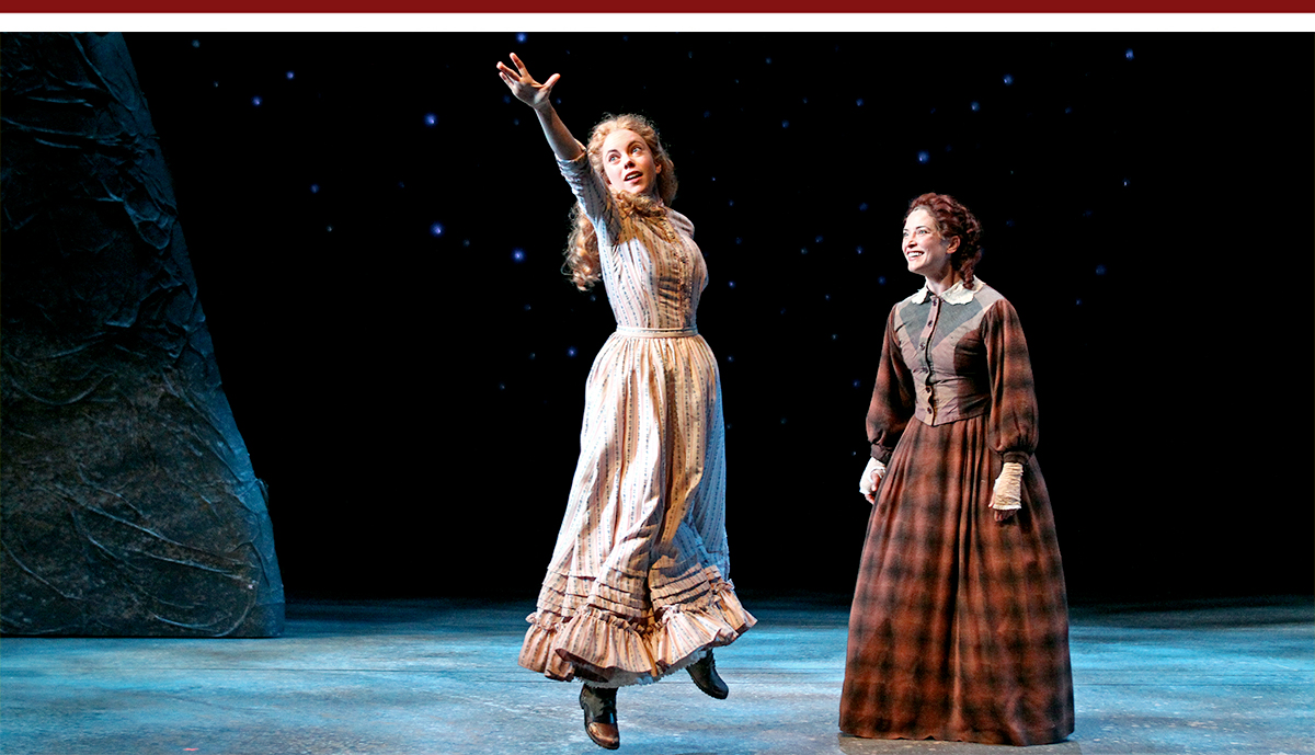 Lily Holleman and Paige Lindsey White in South Coast Repertory's Abundance