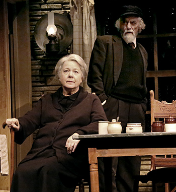 Robin Pearson Rose and Jarlath Conroy in 'Outside Mullingar' at the Geffen Playhouse.