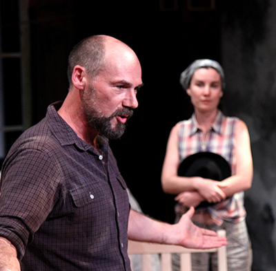 Andrew Borba and Shannon Lee Clair in Uncle Vanya' at Antaeus Theatre Company.