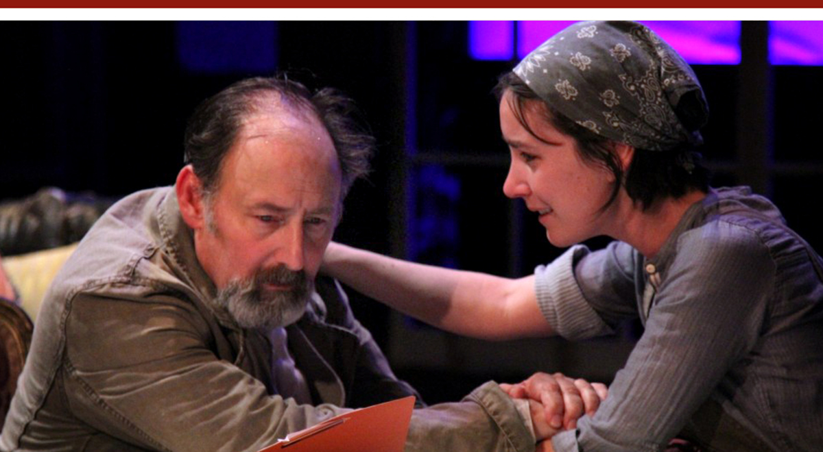 Arye Gross and Shannon Lee Clair in 'Uncle Vanya' at Antaeus Theatre Company. Photo by Karianne Flaathen