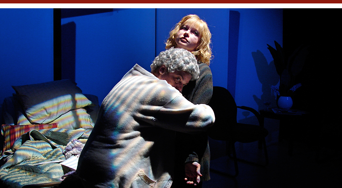 Sylvia Little and Rhonda Aldrich in Joel Drake Johnson's 'The End of the Tour' at Road Theatre. Photo by Matt Kaiser.