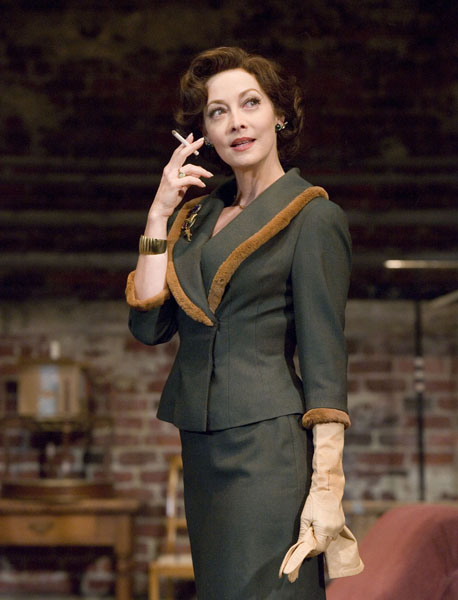 Sharon Lawrence in Austin Pendleton's 'Orson's Shadow' at Pasadena Playhouse. Photo by Craig Schwartz.