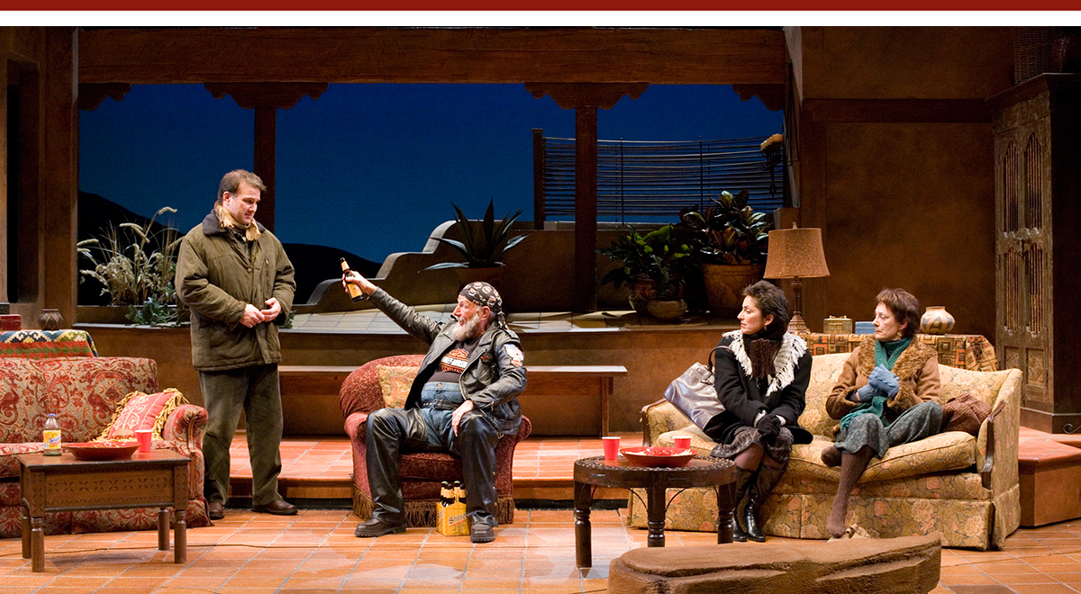 Ted Koch, Ned Schmidtke, Nike Doukas and Rosina Reynolds in Howard Korder's 'Sea of Tranquility' at The Old Globe. Photo by Craig Schwartz.