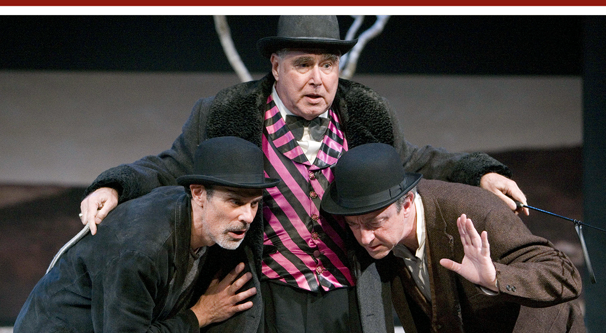 Joel Svetow, Mitchell Edmonds and Robertson Dean in 'Waiting for Godot' at A Noise Within. Photo by Craig Schwartz