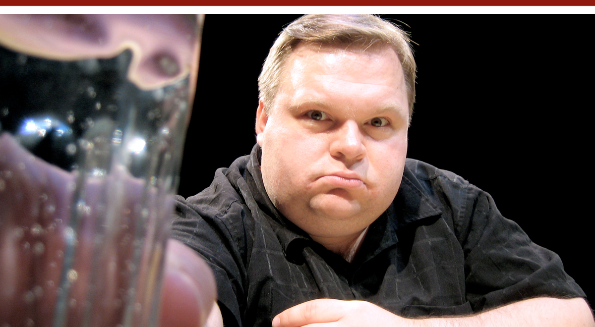 Mike Daisey in 'How Theater Failed America' at the Kirk Douglas Theatre. Photo by Craig Schwartz