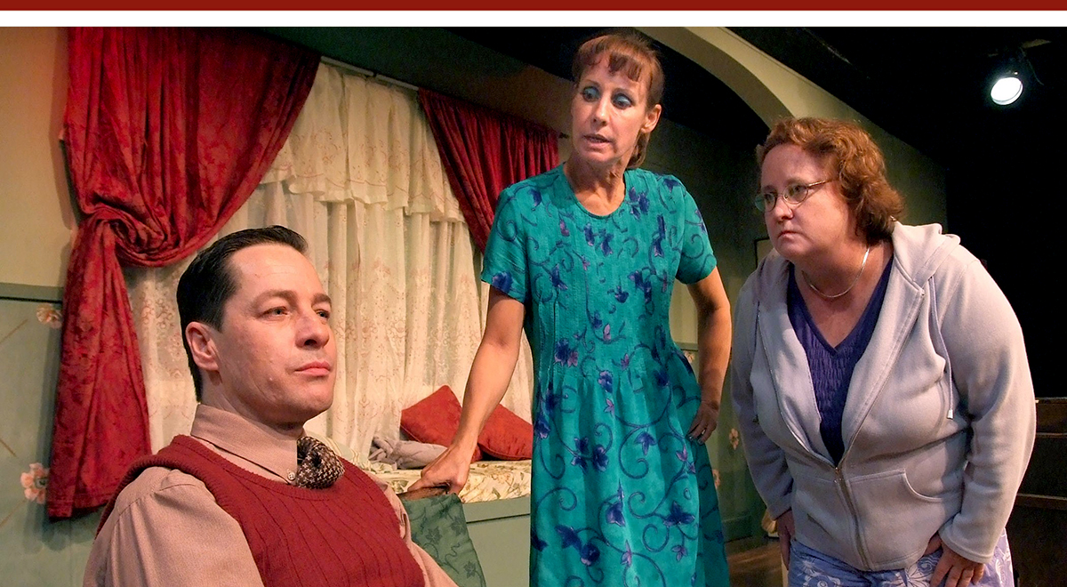 French Stewart, Laurie Metcalf and Maile Flanagan in 'Voice Lessons' at The Zephyr Theatre. Photo by Ed Kreiger