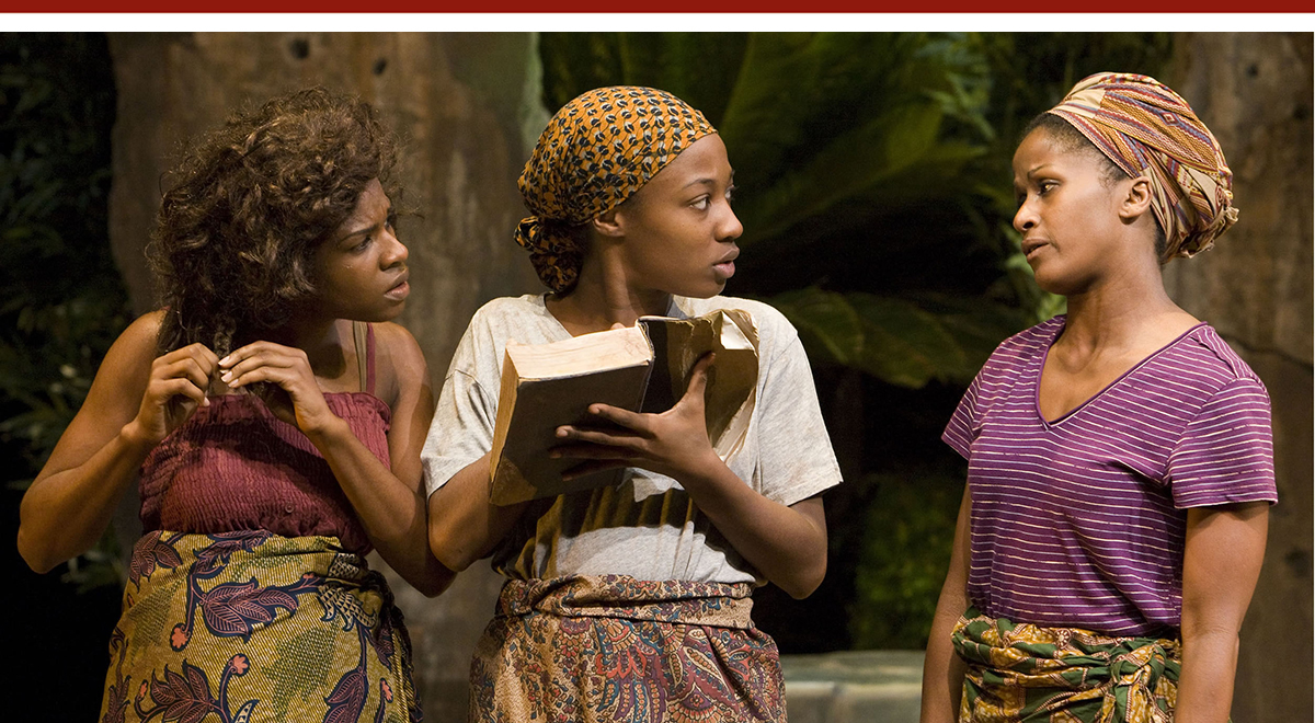 Edwina Findley, Miriam F. Glover, Bahni Turpin in 'Eclipsed' at the Kirk Douglas Theatre. Photo by Craig Schwartz