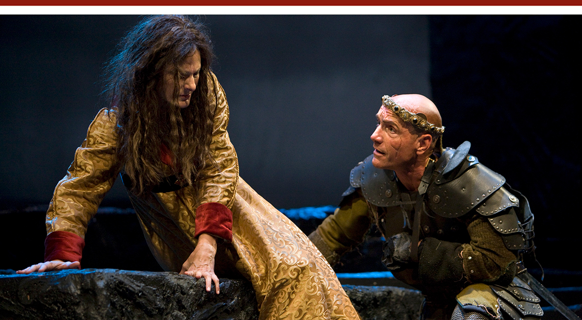 Susan Angelo and Steve Weingartner in 'Richard III' at A Noise Within. Photo by Craig Schwartz