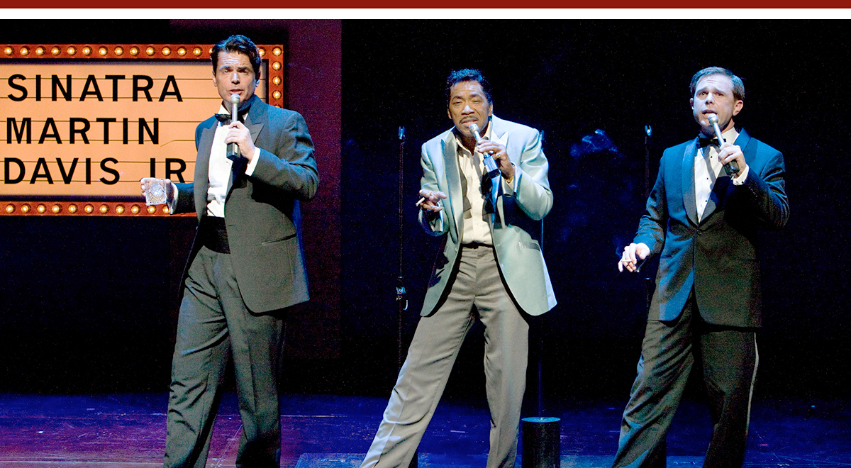 Troy Britton Johnson, Obba Babatundé, Adam James in 'Sammy' at La Jolla Playhouse. Photo by Craig Schwartz