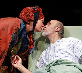 Linda Gehringer and Tony Amendola in 'The Language Archive' by Julia Cho at South Coast Repertory. Photo by Henry DiRocco