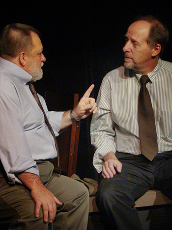 Paul Linke and Tony Pasqualini in Pasqualini's 'Loyalties' at Pacific Resident Theatre. Photo by Norman Scott