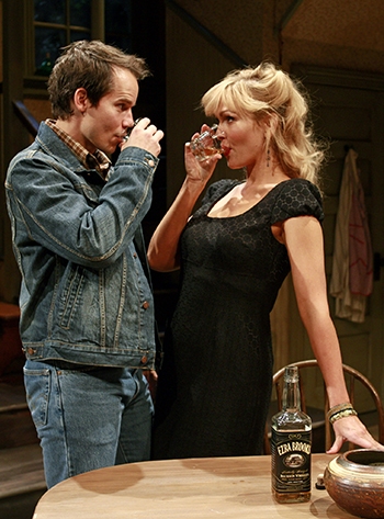 Nathan Baesel and Jenn Lyon in Beth Henley's 'Crimes of the Heart' at South Coast Repertory. Photo by Henry DiRocco