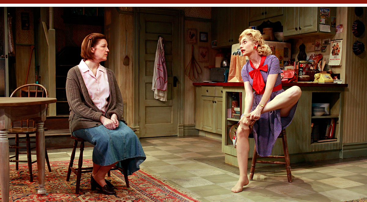 Blair Sams and Tessa Auberjonois in 'Crimes of the Heart' at South Coast Repertory. Photo by Henry DiRocco