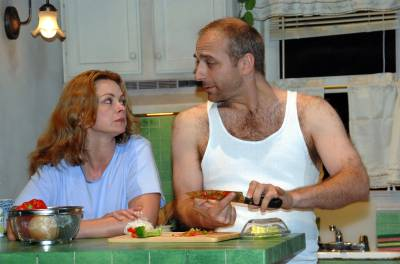 Libby West and Thomas Fiscella in 'Frankie and Johnny in the Clare de Lune' at Long Beach International City Theatre