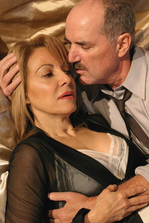 Beege Barkette and Jack Kehler in Arthur Miller's 'Some Kind of Love Story' at the Hayworth Theatre