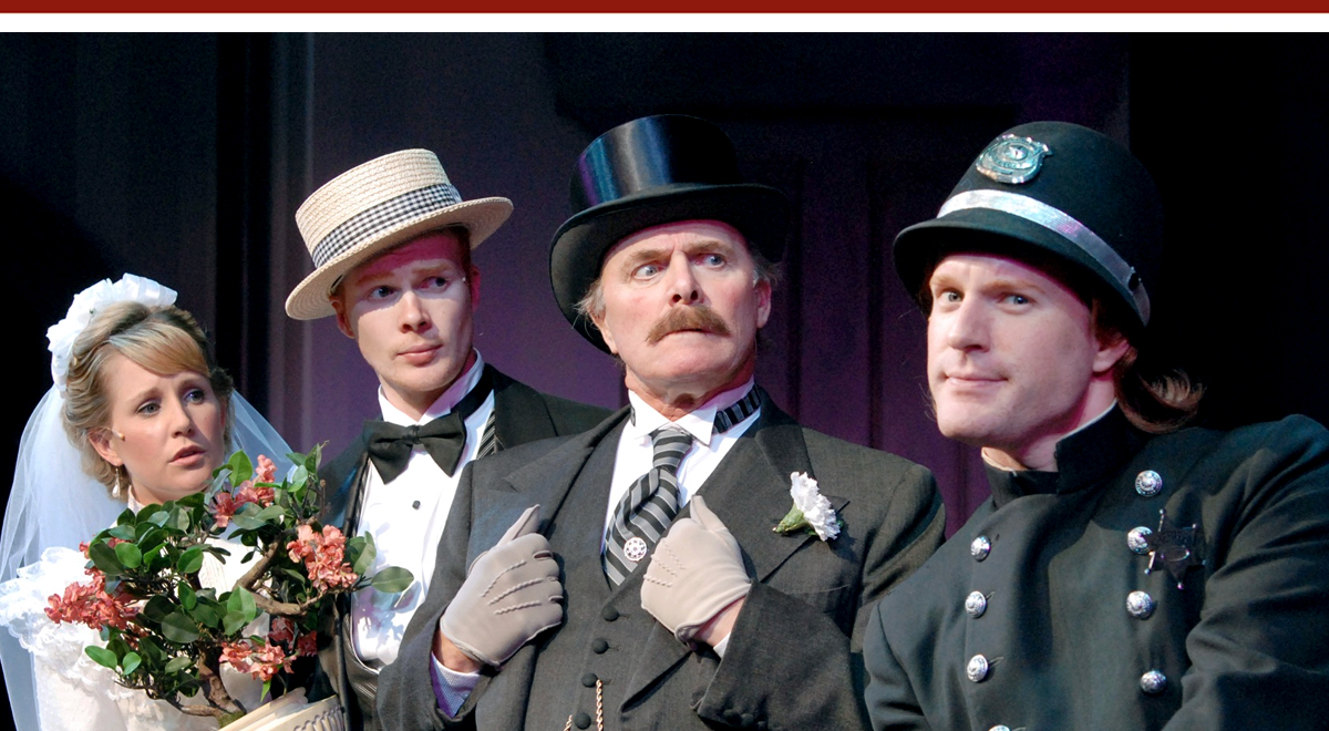 Erika Whalen, Matthew Koehler, Richard Doyle and Kasey Mahaffy in 'An Italian Straw Hat' at South Coast Repertory. Photo by Henry DiRocco