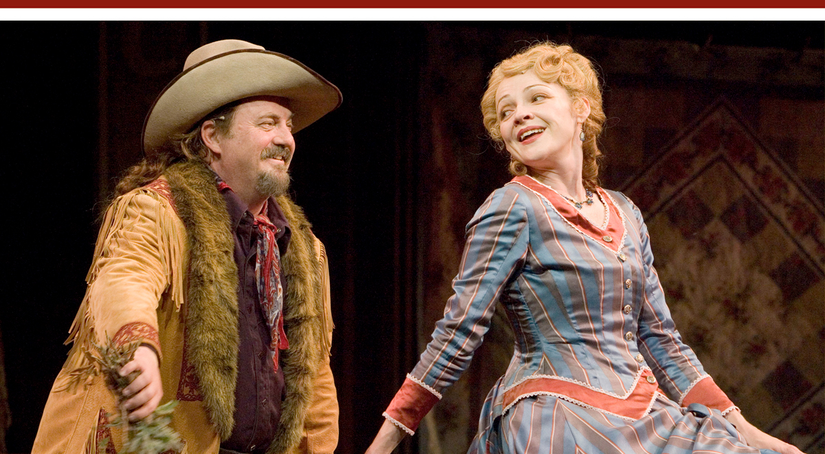 Eric Hoffman and Katie MacNichol in 'The Merry Wives of Windsor' at The Old Globe. Photo by Craig Schwartz