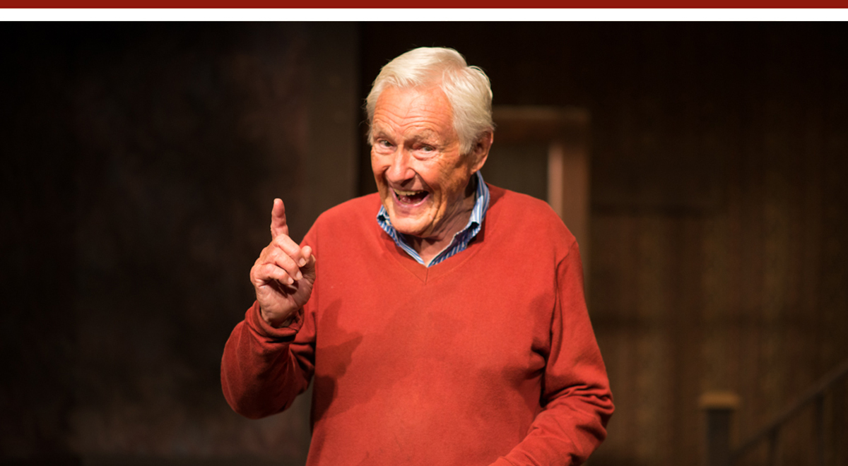 Orson Bean in 'Safe at Home, An Evening with Orson Bean' at Pacific Resident Theatre. Photo by Vitor Martins