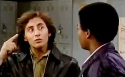 "Arye Gross and Todd Anthony Bridges in ""The Peacemaker"" episode of ""Diff'rent Strokes"""