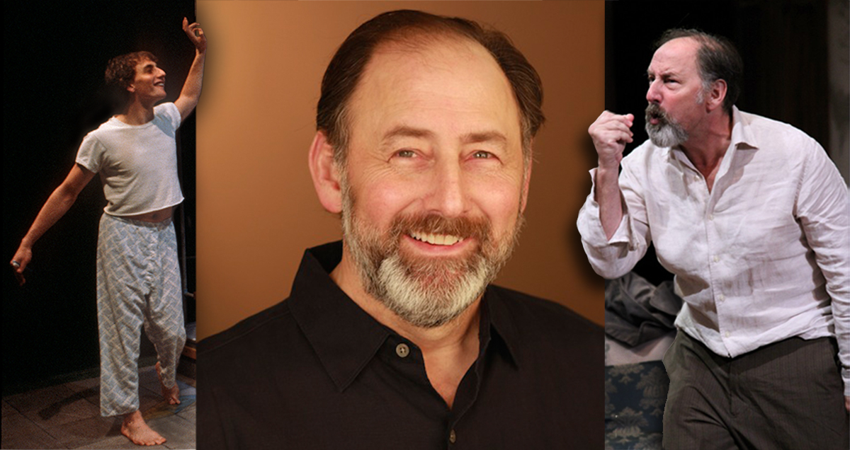 Arye Gross, today, with his 1981 appearance in Screwball, left, and his 2015 Uncle Vanya