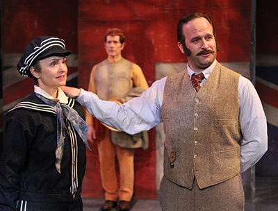 Gigi Bermingham, John Allee and Adam J. Smith in 'Cloud 9' at Antaeus Theatre Company. Photo by Karianne Flaathen