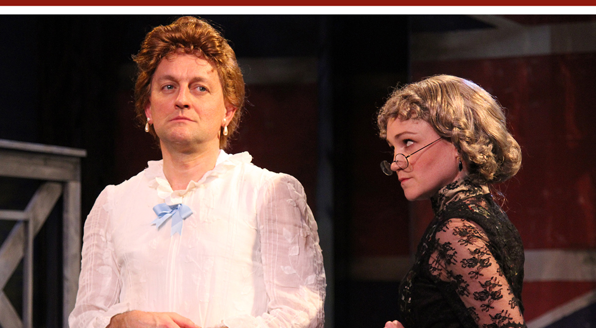 JD Cullum and Joanna Strapp in Caryl Churchill's 'Cloud 9' at Antaeus Theatre Company. Photo by Karianne Flaathen
