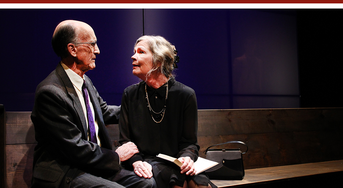 Hal Landon Jr. and Linda Gehringer in the premiere of 'Going to a Place Where You Already Are' at South Coast Repertory. Photo by Debora Robinson