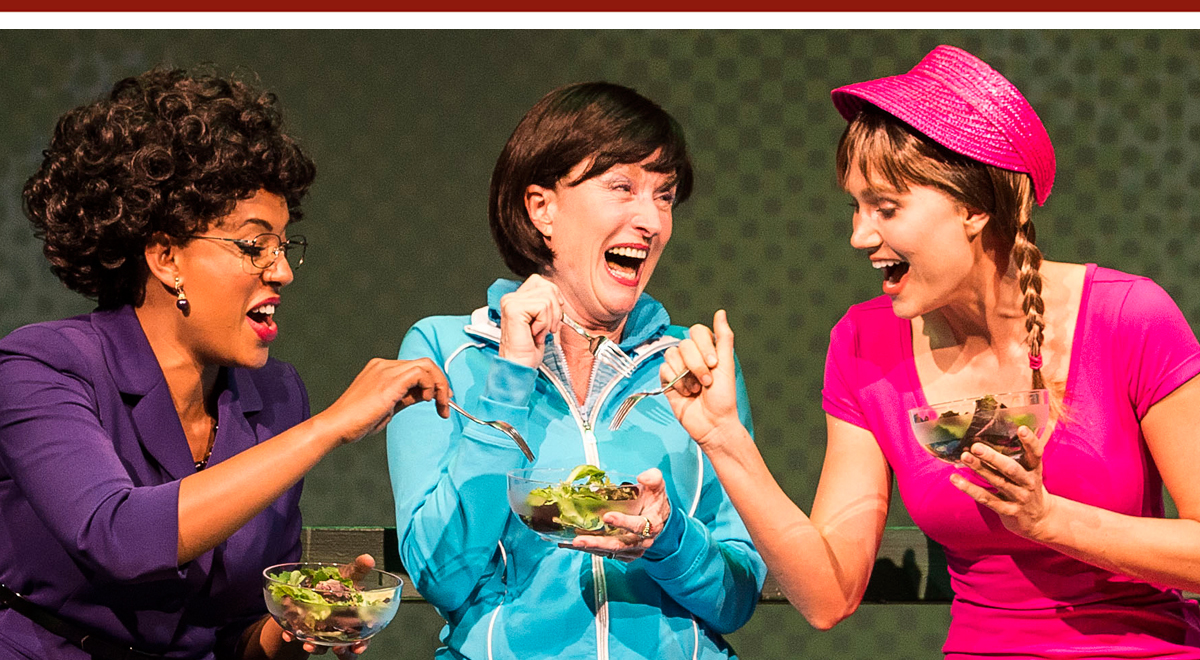 Dinora Z. Walcott, Lisa Banes, Nora Kirkpatrick in 'Women Laughing Alone with Salad' at the Kirk Douglas Theatre. Photo by Craig Schwartz
