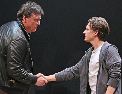Illa Volok and Seamus Mulcahy in Jesse Eisenberg's 'The Revisionist' at Wallis Annenberg Center for the Arts. Photo by Kevin Parry