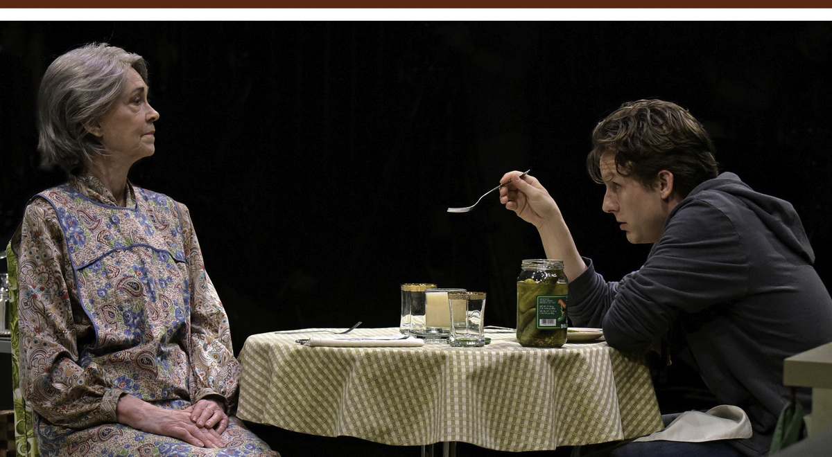 Deanna Dunagan and Seamus Mulcahy in Jesse Eisenberg's 'The Revisionist' at Wallis Annenberg Center for the Performing Arts. Photo by Kevin Parry