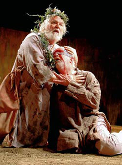Dakin Matthews and Larry John Meyers in 'King Lear' at the Anteaus Theatre Company.