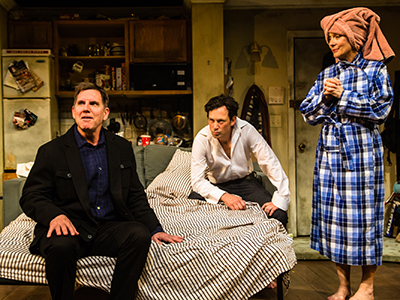 Tim Bagley, Barry Del Sherman and Glenne Headly in 'Stage Kiss' at the Geffen Playhouse. Photo by Jeff Lorch