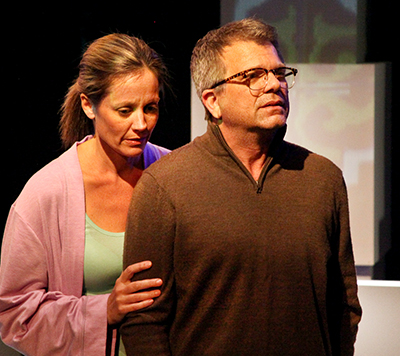 Laurie Okin and Chet Grissom in the world premiere of Julie Marie Myatt's 'Birder' at The Road Theatre. Photo by Michele Young