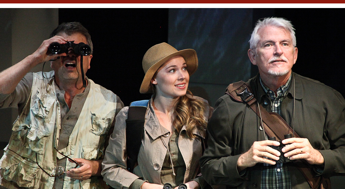 Chet Grissom, Monique Marie Gelineau and Webster Williams in the world premiere of Julie Marie Myatt's 'Birder' at The Road Theatre. Photo by Michele Young