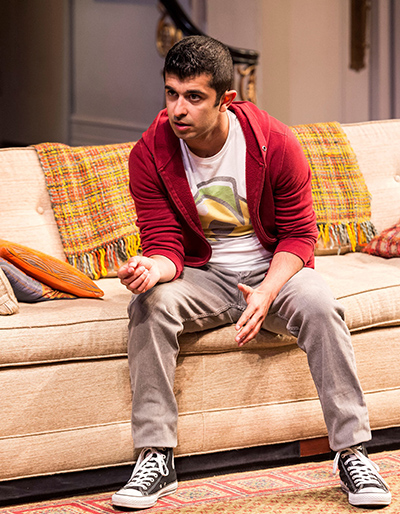 Behzad Dabu in 'Disgraced' at Center Theatre Group/Mark Taper Forum. Photo by Craig Schwartz.