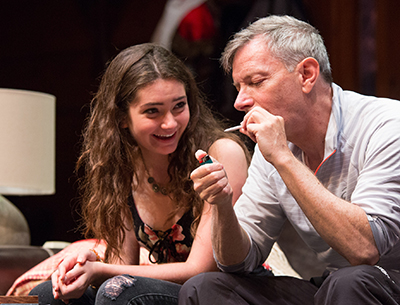 Emily Robinson and Arnie Burton in 'Big Sky' at the Geffen Playhouse. Photo by Darrett Sanders