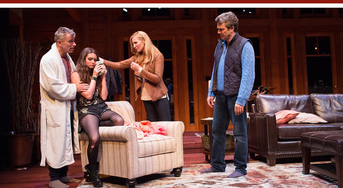Arnie Burton, Emily Robinson, Jennifer Westfeldt and Jon Tenney in 'Big Sky' at the Geffen Playhouse. Photo by Darrett Sanders
