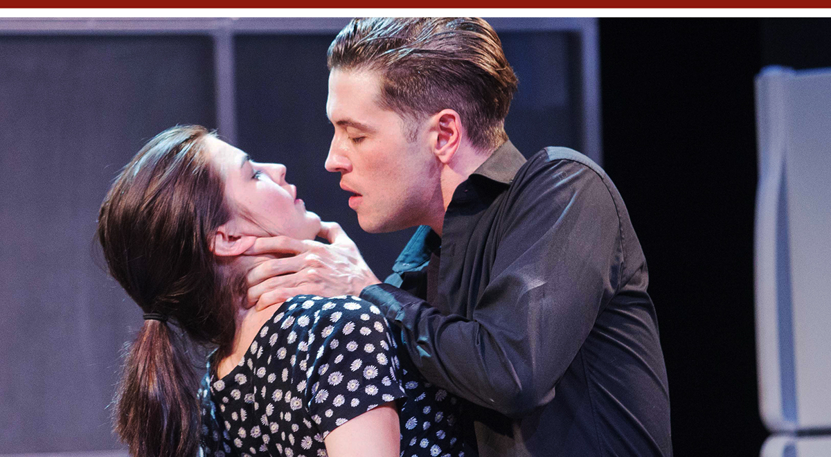 Emily James and Patrick Stafford in 'Smoke' at the Rogue Machine Theatre. Photo by John Perrin Flynn