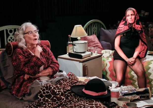 Betty Buckley and Rachel York in 'Grey Gardens' at the Ahmanson Theatre.