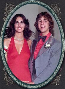 Diane King and Mark Rucker at Newport Harbor High School's 1977 Senior Prom