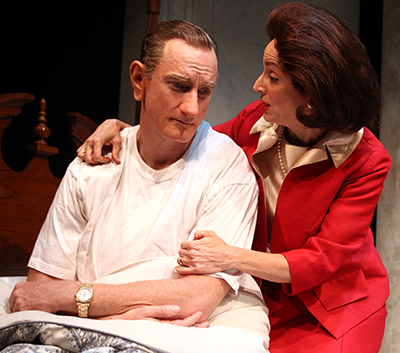 Hugo Armstrong and Nike Doukas in 'All the Way' at South Coast Repertory. Photo by Debora Robinson