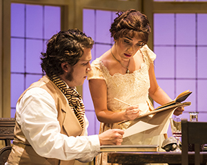 Rafael Goldstein and Erika Soto in A Noise Within's 'Arcadia.' Photo by Craig Schwartz