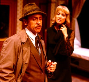 Ron Boussom and Nike Doukas in 'Loot' at South Coast Repertory (1993)