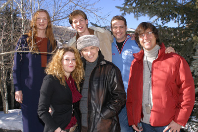 Frances Conroy, Natasha Lyonne, Stark Sands, actor/writer Charles Busch, Jason Priestley and director Mark Rucker 2003 Sundance Film Festival (Photo by Randall Michelson)