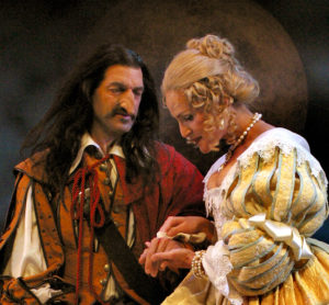 Mark Harelik and Susannah Schulman in SCR's 'Cyrano' (2004). Photo by Ken Howard