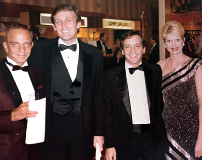 Mr. Cohn and Mr. Trump in an undated photo with Steve Rubell, the co-founder of Studio 54, and Mr. Trump's first wife, Ivana.