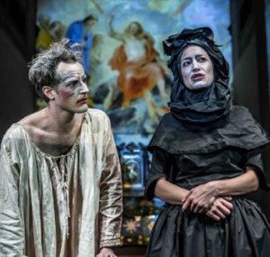 Tim Daish as Gian Gastone de' Medici and Carolina Gamini as Anna Maria Luisa de' Medici
