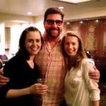 Emily Donahoe, Mark Rucker and Julia Coffey toast the closing of ACT's 'Maple and Vine'