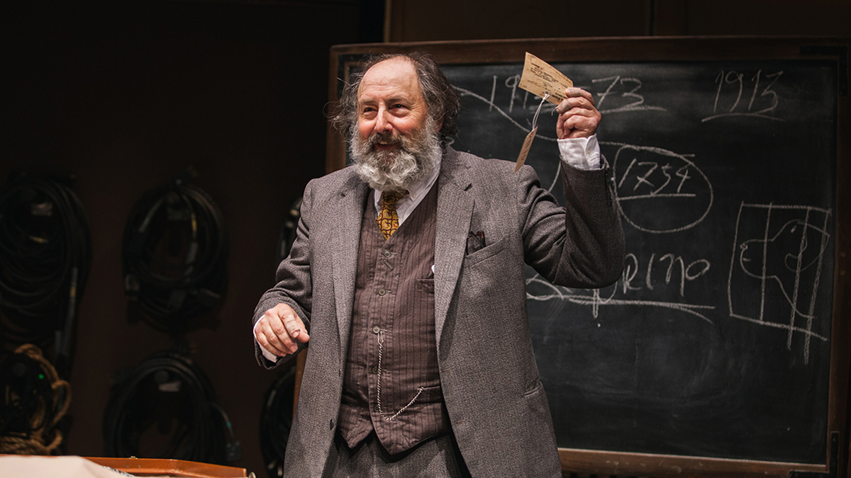 Arye Gross in 'Underneath the Lintel: An Impressive Presentation of Lovely Evidences' at the Geffen Playhouse.