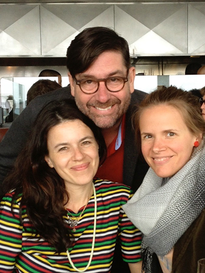 ACT's Bea Basso, Mark Rucker, Carly Cioffi, out to lunch in April 2013.